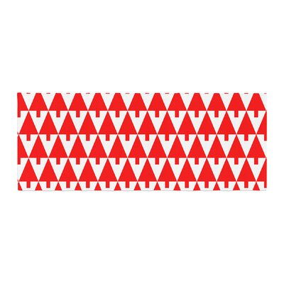Gabriela Fuente Happy X-Mas Geometric Bed Runner Color: Red