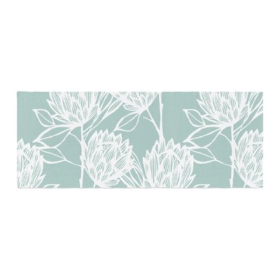 Gill Eggleston Protea Jade Flowers Bed Runner