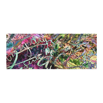 Gabriela Fuente Crazy Day Abstract Bed Runner