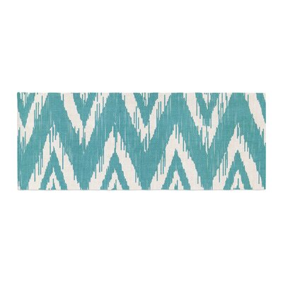 Heidi Jennings Tribal Chevron Bed Runner Color: Aqua