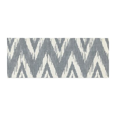 Heidi Jennings Tribal Chevron Bed Runner Color: Gray
