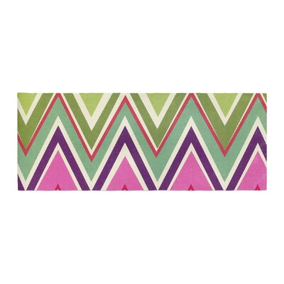 Heidi Jennings Clash of Color Chevron Bed Runner
