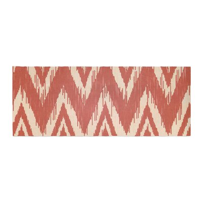Heidi Jennings Tribal Chevron Bed Runner Color: Red/Tan