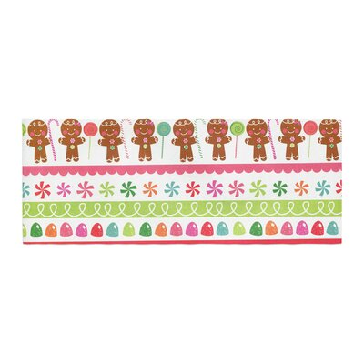 Heidi Jennnings Gumdrop Buttons Gingerbread Bed Runner