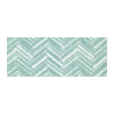 Heidi Jennings Painted Chevron Bed Runner