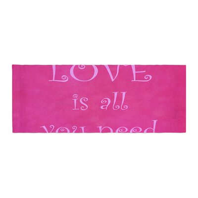Iris Lehnhardt Love is all you need Quote Bed Runner