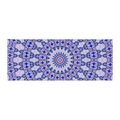 Iris Lehnhardt Kaleidoscope Circle Geometric Bed Runner Color: Blue