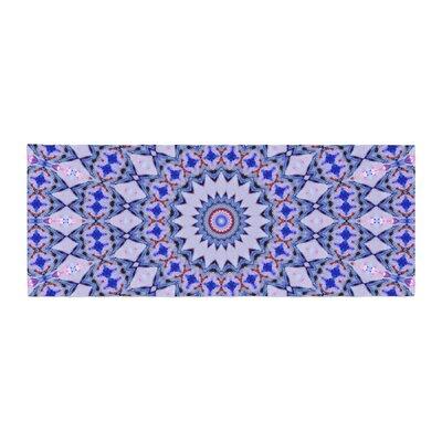 Iris Lehnhardt Kaleidoscope Circle Geometric Bed Runner Color: Blue