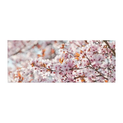 Iris Lehnhardt Flowering Plum Tree Blossoms Bed Runner