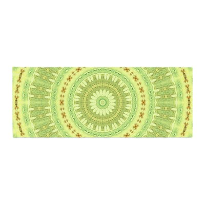 Iris Lehnhardt Wheel of Spring Circle Bed Runner