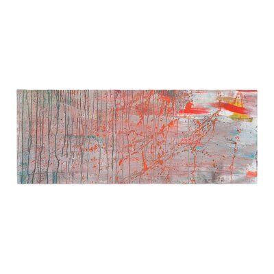 Iris Lehnhardt Mots de La Terre Splatter Paint Bed Runner