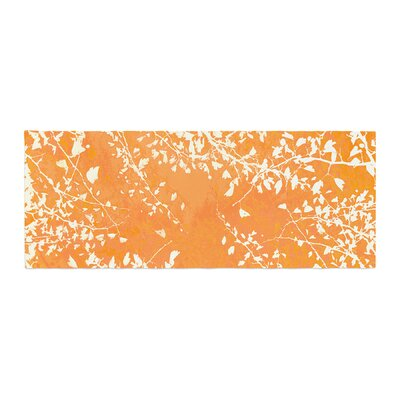 Iris Lehnhardt Twigs Silhouette Bed Runner Color: Orange
