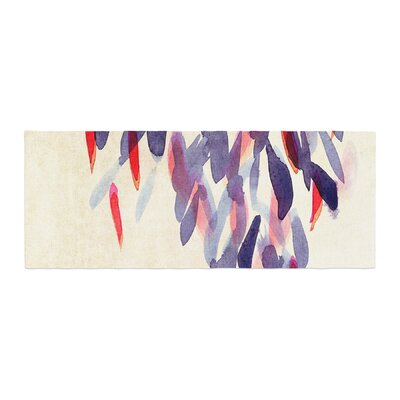 Iris Lehnhardt Abstract Leaves IV Bed Runner
