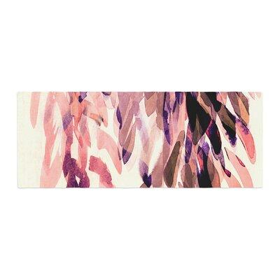 Iris Lehnhardt Abstract Leaves I Bed Runner