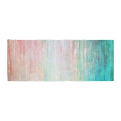 Iris Lehnhardt Color Wash Paint Bed Runner Color: Teal