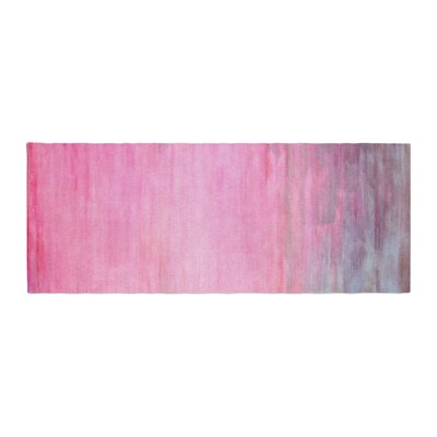 Iris Lehnhardt Color Wash Paint Bed Runner Color: Pink