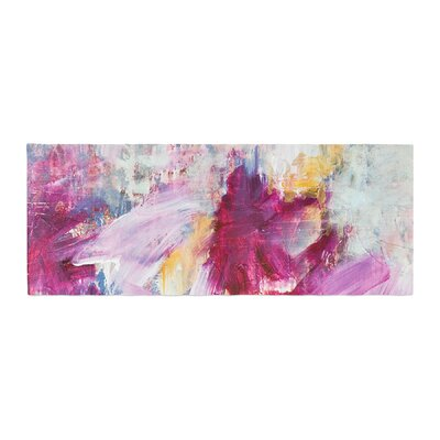 Iris Lehnhardt Magenta Paint Bed Runner
