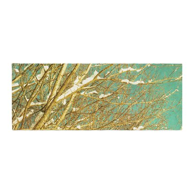 Iris Lehnhardt Snow Covered Twigs Bed Runner