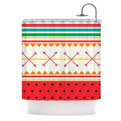 Famenxt Watermelon Arrows and Colors Shower Curtain