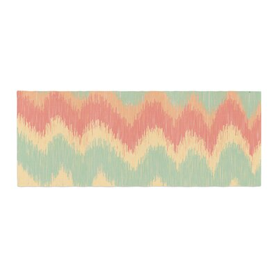 Nika Martinez Ikat Chevron II Bed Runner