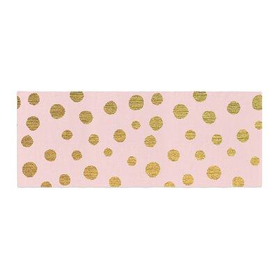 Nika Martinez Dots Bed Runner Color: Pink/Blush