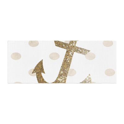 Nika Martinez Glitter Anchor Sparkles Bed Runner Color: Gold