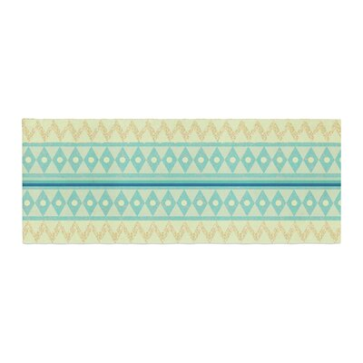 Nika Martinez Glitter Chevron Pattern Bed Runner