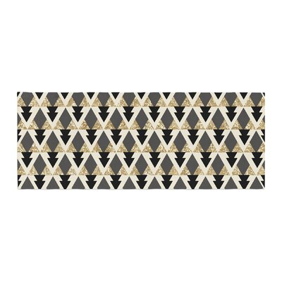 Nika Martinez Glitter Triangles Geometric Bed Runner