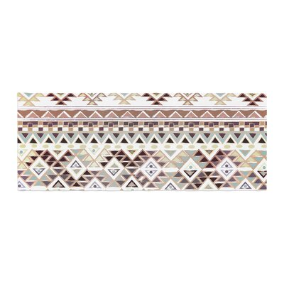 Nika Martinez Tribal Native Pattern Bed Runner Color: Brown
