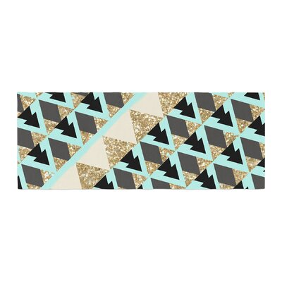 Nika Martinez Glitter Triangles Bed Runner