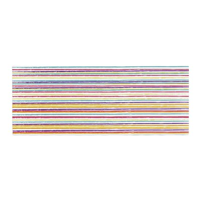 Nika Martinez Summer Stripes Abstract Bed Runner