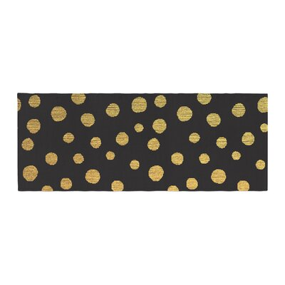 Nika Martinez Dots Bed Runner Color: Black/Yellow
