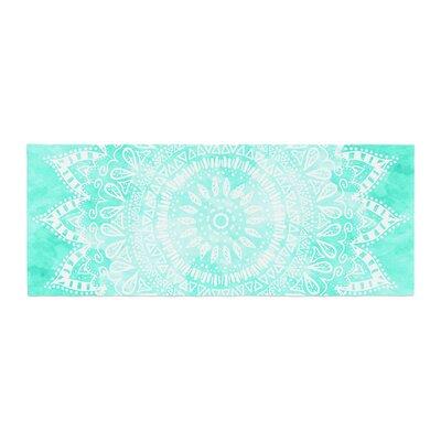 Nika Martinez Boho Flower Mandala Bed Runner Color: Teal/Aqua Green