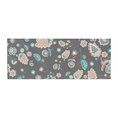 Nika Martinez Cute Winter Floral Bed Runner