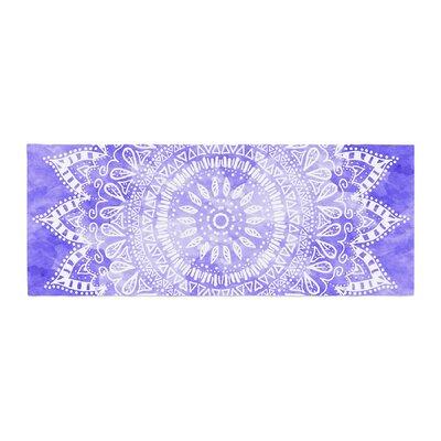 Nika Martinez Boho Flower Mandala Bed Runner Color: Purple/Lavender