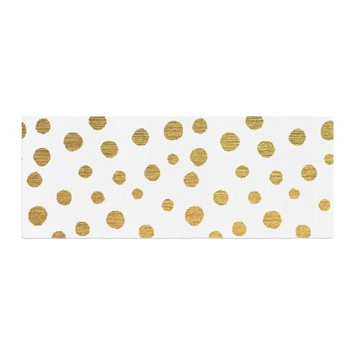 Nika Martinez Dots Bed Runner Color: White/Yellow