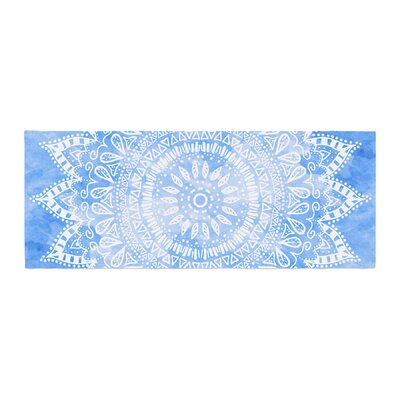 Nika Martinez Boho Flower Mandala Bed Runner Color: Blue/Aqua