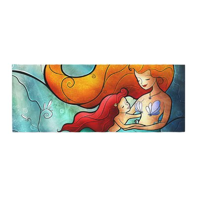 Mandie Manzano I Remember Love Mermaid Bed Runner