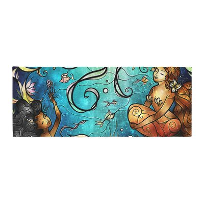 Mandie Manzano Under the Sea Mermaids Bed Runner