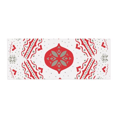 Miranda Mol Snow Joy Bed Runner Color: White