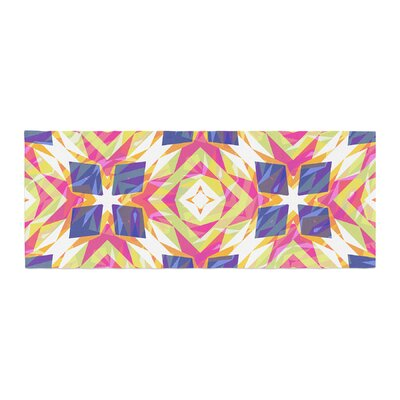 Miranda Mol Dancing Tiles Indigo Bed Runner