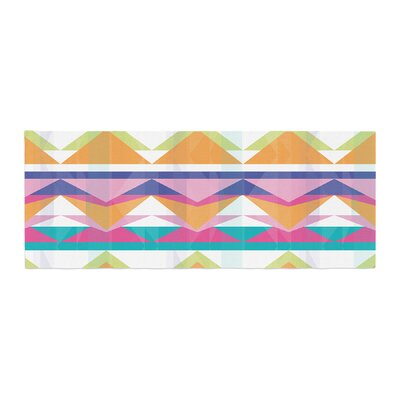 Miranda Mol Triangle Waves Geometric Pattern Bed Runner