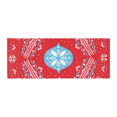 Miranda Mol Snow Joy Bed Runner Color: Red
