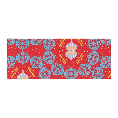 Miranda Mol Frosted Holiday Bed Runner Color: Red