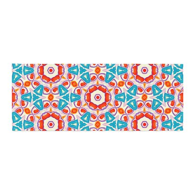 Miranda Mol Kaleidoscopic Circles Pattern Bed Runner