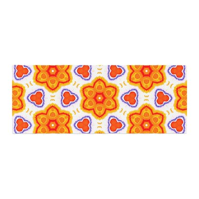 Miranda Mol Kaleidoscopic Flowers Floral Bed Runner