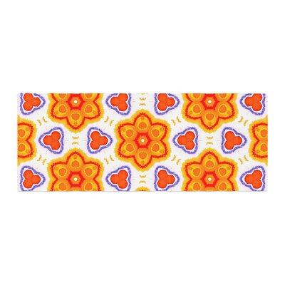 Miranda Mol Kaleidoscopic Flowers Floral Bed Runner