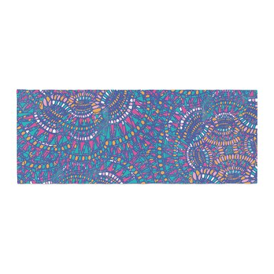 Miranda Mol Kaleidoscopic Geometric Abstract Bed Runner Color: Blue