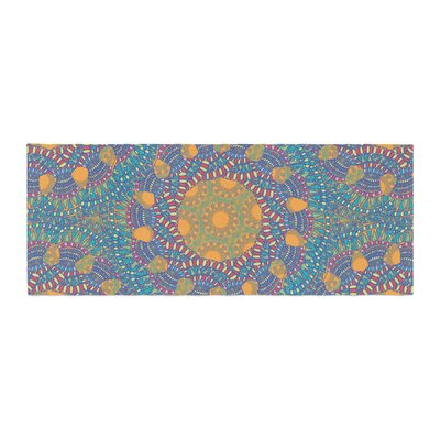 Miranda Mol Prismatic Abstract Bed Runner Color: Orange/Blue