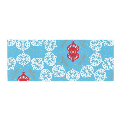 Miranda Mol Frosted Holiday Bed Runner Color: Blue